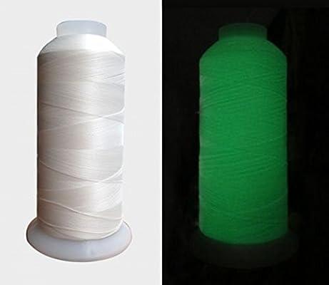 chengyida blanco brilla en la oscuridad hilo para máquina de coser ...