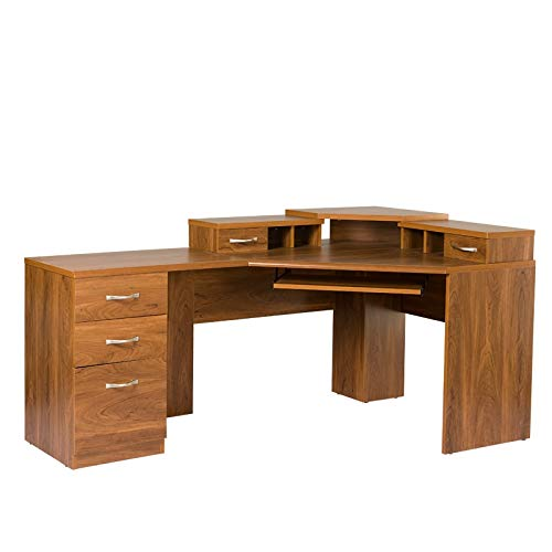 American Furniture Classics corner desk, Large, Autumn Oak