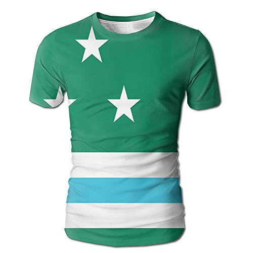 Jie Shikang Washington State Flag Men's Short Sleeve T-Shirt Full Print Cool Tees - Pa Shopping Washington