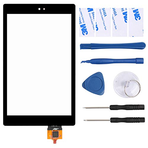 S-Union Touch Panel Digitizer Glass Lens Screen Replacement for Amazon Kindle Fire HD8 6th PR53DC (Fire Hd 8 6th Generation Screen Replacement)