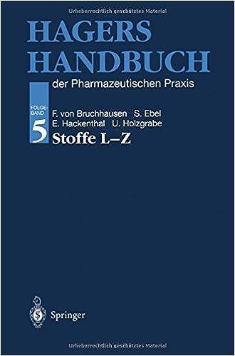 Book Hagers Handbuch der Pharmazeutischen Praxis: Folgeband 5: Stoffe L-Z (German Edition) (2013-03-23)