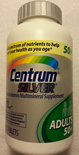 Centrum Silver Multivitamin Mineral 285 Tablets Adults Over 50