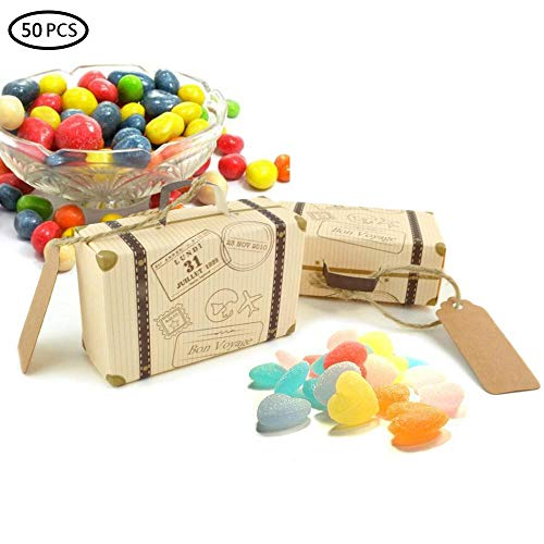 Pawaca 50 Pack Wedding Favor Candy Box with