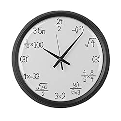 CafePress - Large Wall Math Clock - Large 17 Round Wall Clock, Unique Decorative Clock