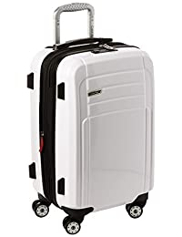 Calvin Klein Rome 21-Inch Upright Carry-On Suitcase, White, One Size
