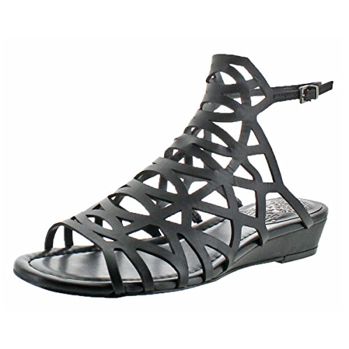Vince Camuto Illana Womens Black Leather Caged Slingback Sandals Size 9