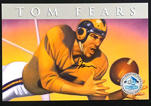 PRO FOOTBALL HALL OF FAME Tom Fears 1998 Platinum Signature Series NFL HOF Signed Autograph Limited Edition Card