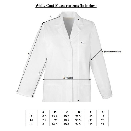 Premium 100 Pure Cotton 37 White Lab Coat Uniform S Xl