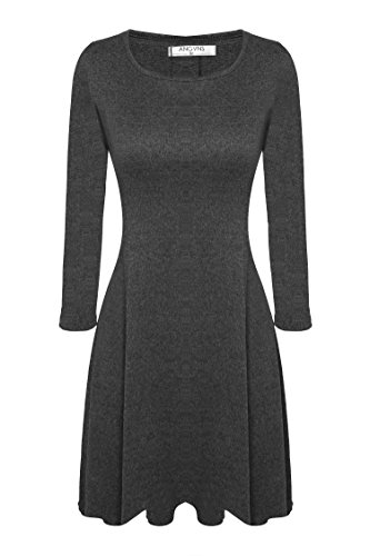 ANGVNS Womens Casual Flare Neckline