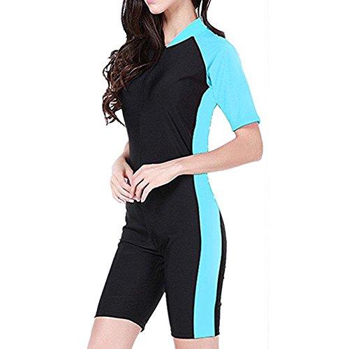 Tueenhuge Fashion Women Ladies Girls One Piece Short Sleeve Swimsuit Swimwear Unitard Legsuit Swimming (Swimming Costume For Ladies)