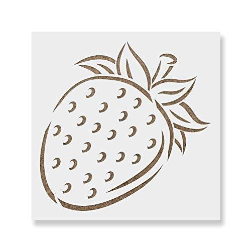 Strawberry Stencil Template - Reusable Stencil with Multiple Sizes Available