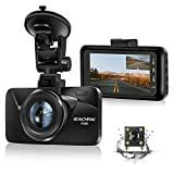 Dual Dash Cam Car Dashboard Camera Recorder FHD 1080P Front and Rear Cameras for Cars,Driving Loop Recording,3.0' IPS Screen 170°Wide Angle, G-Sensor, Night Vision, Motion Detection