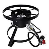 Thaweesuk Shop High Pressure Burner Outdoors Cooking Gas Single Propane Stove Camping 14'' Diameter Cooking Surface 13'' Tall of Set