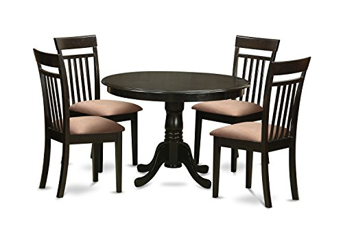 East West Furniture ANCA5-CAP-C 5-Piece Kitchen/Dinette Table Set, Cappuccino Finish