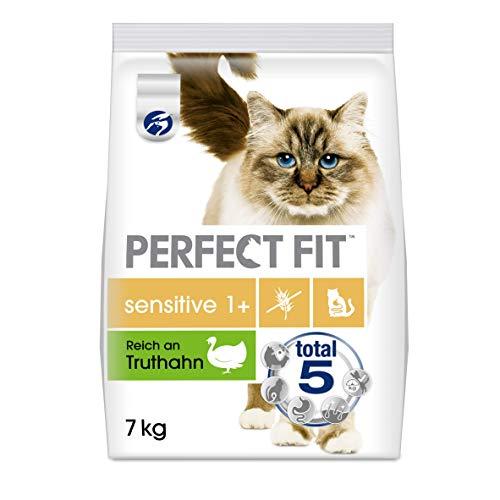 Perfect Fit Sensitive 1+ – Trockenfutter für erwachsene, sensible Katzen ab 1 Jahr – Ohne Weizen und Soja – Unterstützt…