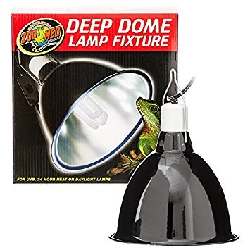 Zoo Med Deep Dome Lamp Fixture, 8.5'' bottom diameter by Zoo Med