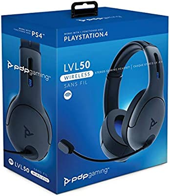 PDP - Auricular Stereo Gaming LVL50 Wireless, Gris (PS4): Amazon ...