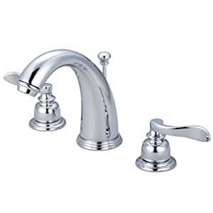 Kingston Brass KB8981NFL NuWave French Widespread Lavatory Faucet with Pop-Up, Polished Chrome