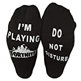 Men's Do Not Disturb Im Playing Fortnite Socks Women's Funny Casual Novelty Cute Gifts Stocking