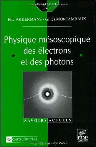 Livres Physique mésoscopique des électrons et des photons pdf