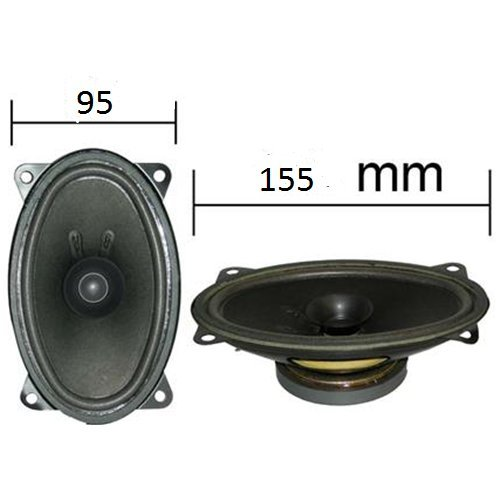 Paire de haut-parleurs Enceintes ovales 155 x 95 mm 6 x 4' 2 Voies coaxiales 50 W GENERAL CAR