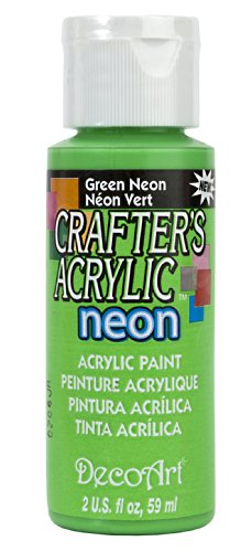 Crafter's Acrylic All Purpose Paint 2 Ounces-Green Neon (Green Neon Paint compare prices)
