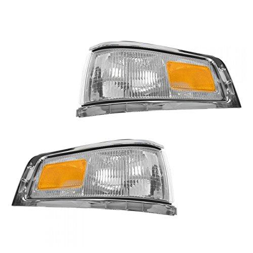 (Marker Signal Blinker Corner Parking Light Lamp Pair Set for 95-97 Town Car )