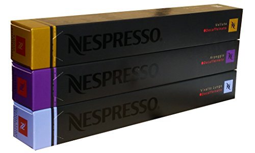 Large Product Image of Nespresso Capsules decaffeinato Mix Vivalto Lungo, Arpeggio, Volluto,30 Capsules - ''NOT compatible with Vertuoline''