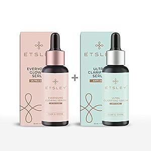 ETSLEY Face Serum Combo| Everyoung Glowing Skin Serum + Ultra Clarifying Skin Serum|Paraben & Sulphate Free|Vitamin C…