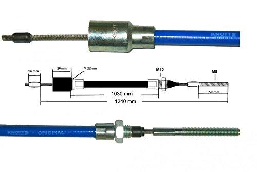 Nirosta Bremsseil Knott 37086.11 HL 1030 mm 1240 mm GL