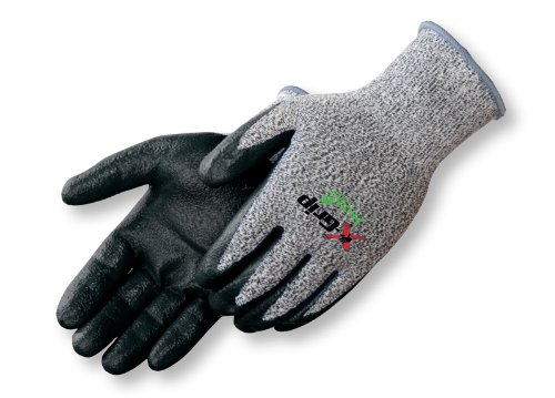 Liberty X-Grip High-Performance Polyethylene Fiber Nitrile Palm Coated Glove, Cut Resistant, Medium, Black (Pack of 12)