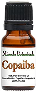 Miracle Botanicals Copaiba Essential Oil - 100% Pure Copaifera Langsdorfii - 10ml or 30ml Sizes - Therapeutic Grade