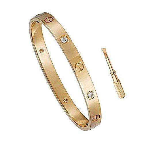 Y.S.M.Y CZ Stone Love Bracelet-Only I Can Unlock Your Heart Bracelets