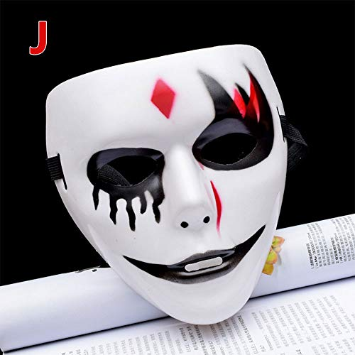 OYJJ Halloween Ghost Dance Horror Mask Plastic Halloween