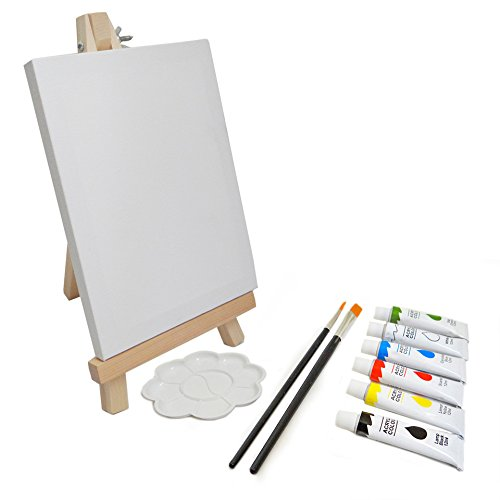 Kubesa Art Supply 11-piece Table Easel with Acrylic Painting ()