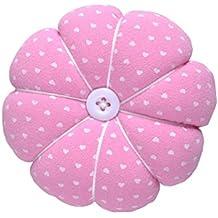 eZAKKA Pin Cushion Polka Pumpkin Wrist Pin Cushions Wearable Needle Pincushions (Polka Dots Pink)
