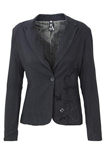 Desigual Jacket Woman AME Alicia 46E2901 44 (XL) Black