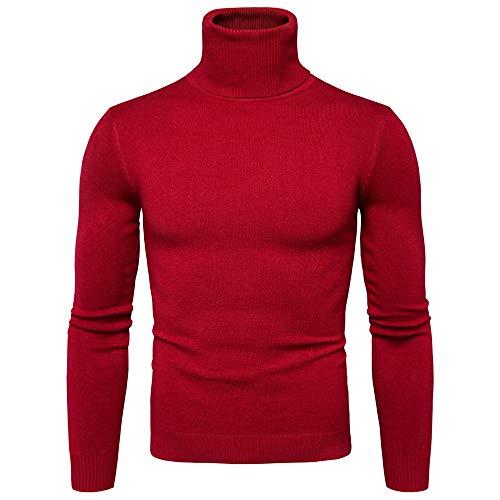 Realdo Men's Turtleneck Sweater, Mens Casual Solid Autumn