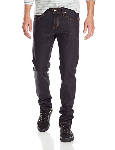 Naked & Famous Denim Men's Super Skinny Guy Jean, Deep Indigo Stretch Selvedge, 30