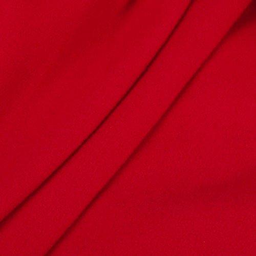 BYSTE Rojo Larga Mujer para Manga Trajes wHnrHvZqP