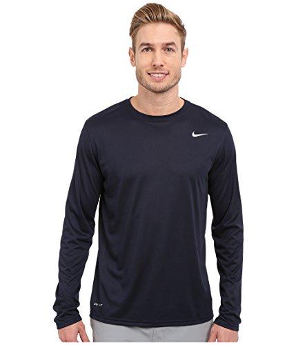 Nike Legend 2.0 Mens Long Sleeve Shirt (Small, Obsidian/Black/Black)