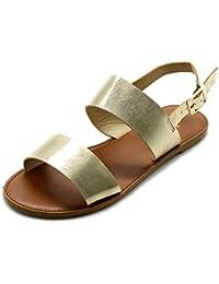 Women's Shoe Two Strap Sling Back Flat Sandals