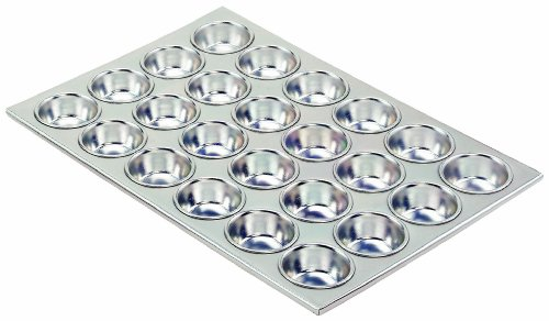 Crestware MUF24 Aluminum 24 Cups Alum Muffin Pan
