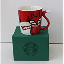RARE Starbucks Holiday RED FOX Mug 12 Oz. 2016