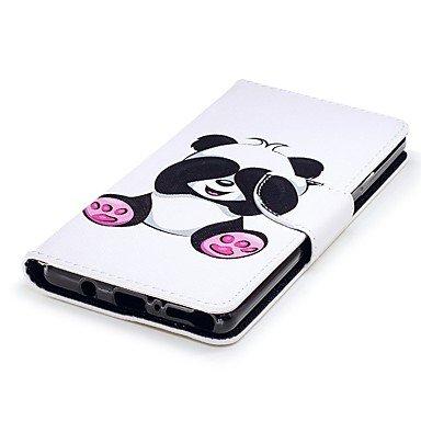 Casos hermosos, cubiertas, Funda Para Samsung Galaxy Nota 8 Cartera Soporte de Coche con Soporte Flip Magnética Funda de Cuerpo Entero Oso Panda Dura Cuero de PU ( Modelos Compatibles : Galaxy Note 8  Galaxy Note 8