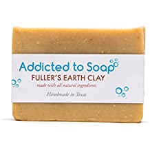 Addicted to Soap – Fuller'S Earth Clay Soap | Specially Formulated – All Natural Ingredients for Perfectly Clean Skin and a Beautifully Refreshing Scent - Handmade with Love in Texas