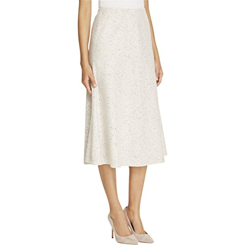 Lafayette 148 Womens Petites Woven Textured Tulip Skirt White P/S -