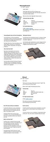 Caso de protección cubierta del tirón para Samsung Galaxy S9+ Duos, negro | estilo del libro cartera cubierta delgada - K-S-Trade (TM)