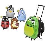 New Egg Shaped Shiny Animal Hard Shell Childs Trolley Case Luggage Suitcase Backpack