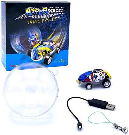 Micro Pocket Racer LED qui brillent dans le noir Jouets pour filles ou gar/çons lot de 1//2//3 au choix porte-cl/és voitures avec balles pour enfants Micro Racers Mini voitures